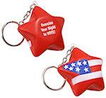 Patriotic Star Key Chain Stress Balls